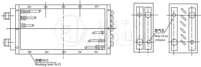 空气热交换器结构示意图