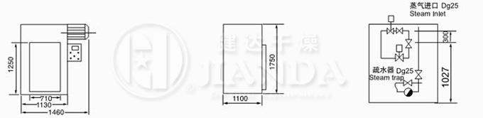 CT-C-O型烘箱尺寸示意图