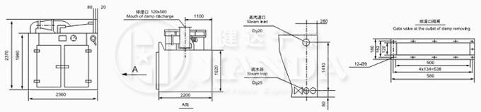 CT-II型烘箱尺寸示意图