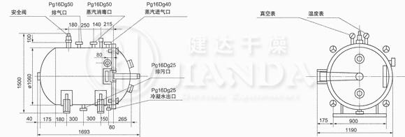 YZG-1000圆形真空干燥机