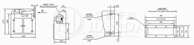 CT-I型烘箱尺寸示意图