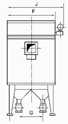 MF系列脈沖布筒濾塵器安裝示意圖