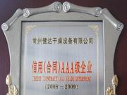 信用合同AAA级(08-09)证书