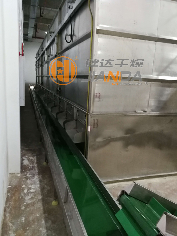 坚果干燥生产线出料