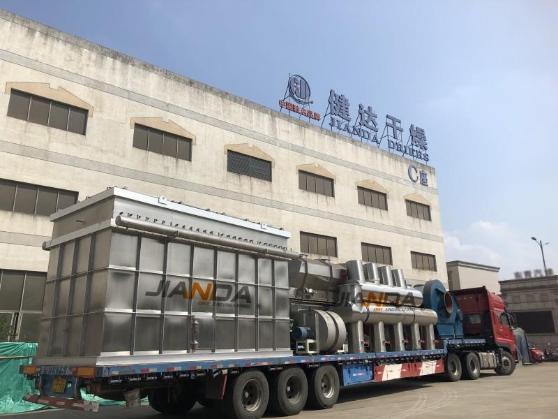 衣康酸专用ZLG-9×1.5流化床冷却系统发往新疆